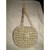 10'' x 10''Golden Plated Hanging Round Shape Candle Holder