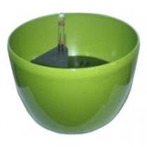 Green Color Round Shaped Plastic Self-Watering Planter