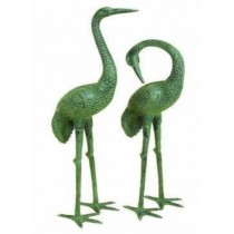 "Green Patina Heroin Design Decorative Sculpture Size-35"" H"