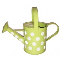Green Watering Can With Polka Dot