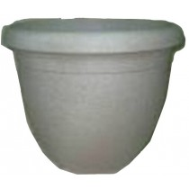 Grey Finish 15.5 Inch Height Plastic Planter