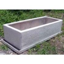 Grey Stone Finishing 10 Inch Fiberglass Planter