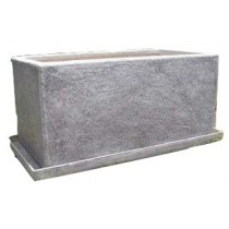 Grey Stone Finishing 16 Inch Fiberglass Planter