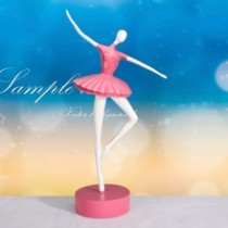 Pink resin ballet dancing girl craft