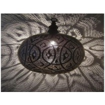Black with  silver design hanging lamp size -20""