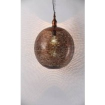 Hanging Metal Lamp- net Etch