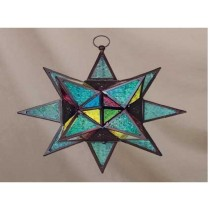multicolored  hanging star lantern size-16""