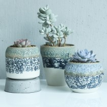 High Quality Designer Ceramic Pot Set Of 3 Pcs