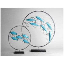 High quality resin big size floating fish ornament  (A)