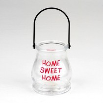 Home Sweet Home Glass Lantern