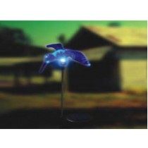 Blue-humming bird solar light