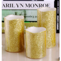 LED CANDLE LIGHT with  golden powder palette