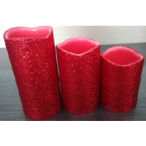 LED CANDLE LIGHT with  Red powder palette
