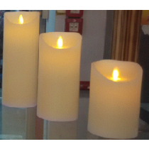 LED moving flame candle with 5 hours timer