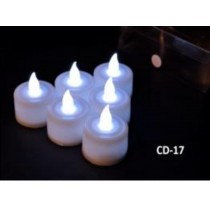 pure white colour changing led candles