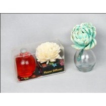 Glass Flower Diffuser with red colour