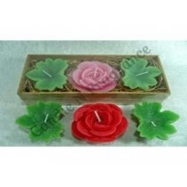 ROSE PLANT floating candle gift set