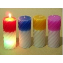 LED-Spiral candle-2x4.5''Pillar