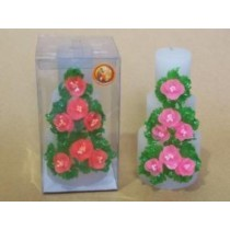 Decorative bouquet  PILLAR CANDLE