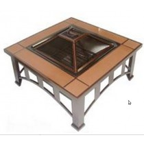 Fire pit for garden patio, size 95 x 95 x 49 cm.