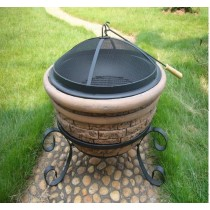 Fire Pit for outdoor patio size: 51 x 51 x 43.50 cm