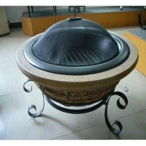 "Fire pit for outdoor garden patio 30"" fiber glass"