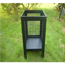 Fire pit for garden patio,  size: 36.5 x 36.5 x 60.0cm