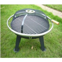 Fire pit for garden with ss safety ring.
