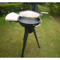 Fire pit for garden patio with cooking grill