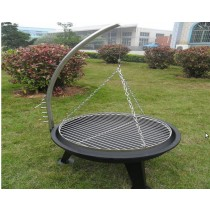 Fire pit for garden patio, size 69 x 64 x 110cm