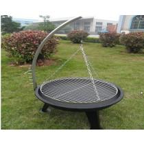 Fire pit for garden patio, size 69 x 64 x 110cm
