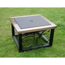 "Fire pit for outdoor patio, Size 27""L X27""W X33.5""H."