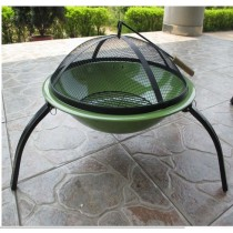 "Fire pit for outdoor patio, size 56cm Dia. x 39cm"" H"