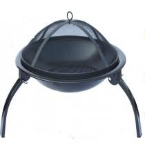 Fire pit for outdoor patio size 82 x 82 x 69 cm