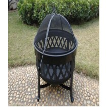 Fire pit for garden patio, size  62 x 47cm