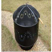 Fire pit for outdoor patio, size; 74 x 61cm