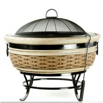 Fire pit for garden patio, size 64.5 x 54 x 92cm