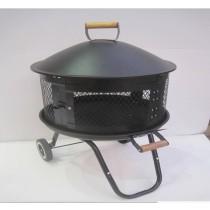 "Portable Outdoor Fire Pit, 36""D x 12"" H"