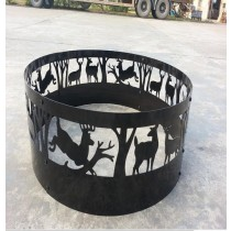 Fire pit for garden patio, 21.5 x 21.5 x 15.8""