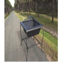 Fire Pit for outdoor patio, Size: 62 X 62 X 48.50cm