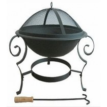 Fire pit for garden patio, 70 x 70 x 52 cm.