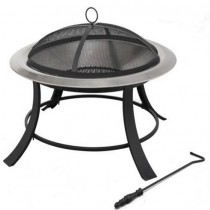 Fire pit for outdoor patio, size 74 x 45 x 74 cm.