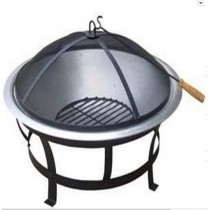 Fire pit for garden patio, size:76 x 76 x 54cm