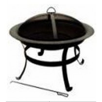 Fire pit for outdoor garden patio, 71 x 71 x 57cm