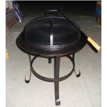 Outdoor fire pit, 67 x 67 x 78 cm with charcoal grill