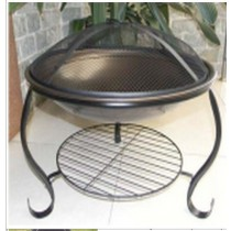 Fire pit for garden in round shape, size 67 x 67 x 54cm