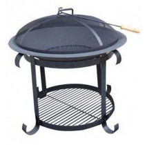 Fire pit for outdoor patio, size 78 x 78 x 78 cm.