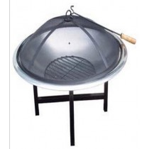 Fire pit for garden patio, size 76 x 76 x 56 cm.