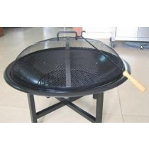Fire pit for outdoor patio, size 71 x 71 x 54cm