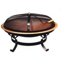Fire pit for garden patio, size 77 x 77 x 54cm with water proof bag